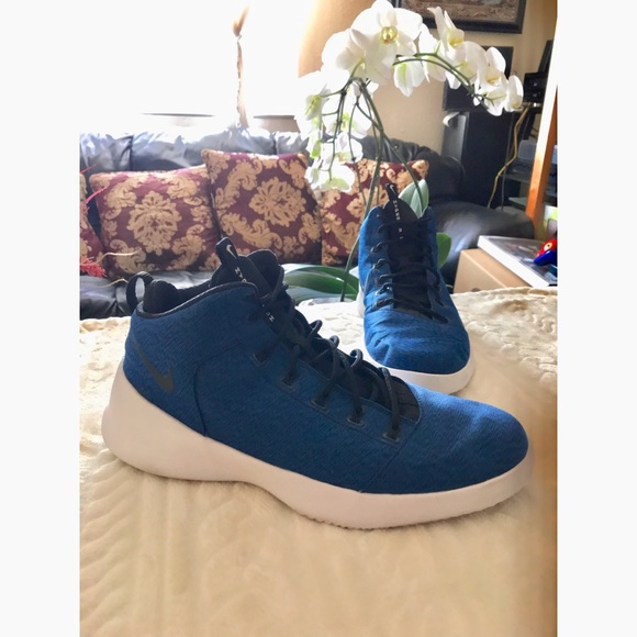 Mens NIKE HYPERFR3SH blue b-ball sneakers size 12